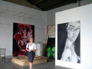 Zheng Delong's studio