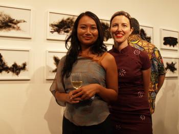 Quynh Pham, Director of Galerie Quynh (left) & Sue Hajdu