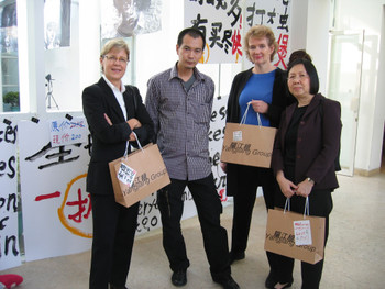 Jane DeBevoise, Zheng Guogu, Michelle Vosper and Christina Chu