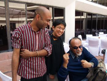 Rahul Bhattacharya, Atreyee Gupta and Shivaji Panikkar