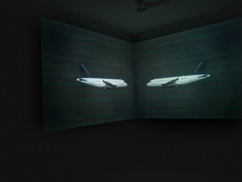 Meeting Point, Double channel video installation, 2006, Rashid Rana