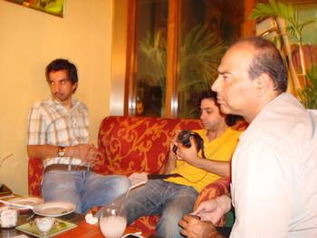 (L-R) Amean J, Izdeyar Setna and Arif Mehmood.