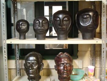 Artist and Sculptor Jabbar Gul's studio.