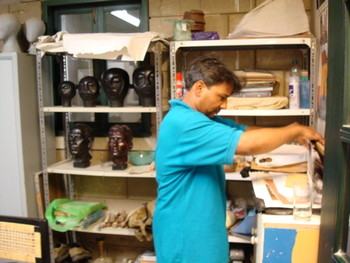 Jabbar Gul in his studio.