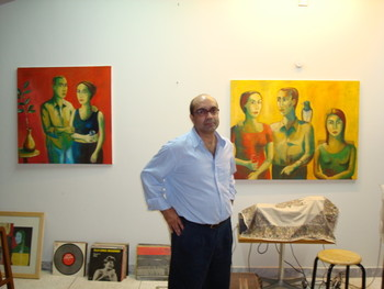 Artist Moeen Faruqui in his studio.