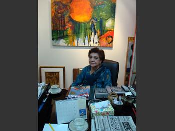 Chowkandi Art Gallery owner Zohra Husain.
