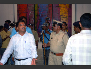 Niraj and the police look for more allegedly offensive works.