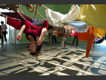 Floor of the Forest, installation, performance, 2007, Trisha Brown.