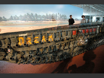 Dream, installation, 2007, Romuald Hazoume.