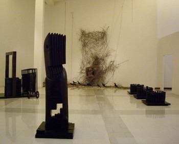 "Gallery view: ""An Intensity of Space and Substance"" exhibit."