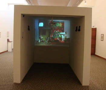 Video Installation Work by Tazeen Qayyum.