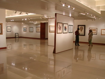 "Gallery view: ""Envoy of Wisdom"" exhibit."