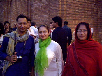 Imran Qureshi, Ayesha Khalid and Tazeen Qayyum at the Reception.