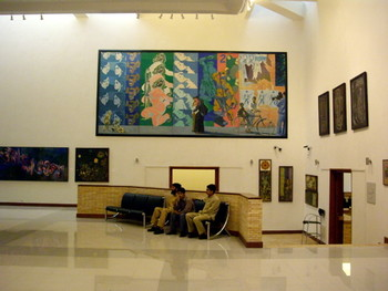 "Permanent Collection works displayed as part of the ""Iconic Presence"" exhibit."