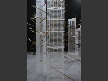 Artist Lu Hao in gallery Xing Dong Cheng, Paris-Beijing.