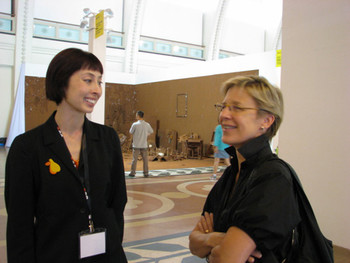 (L-R) Melissa Chiu (Museum Director, Asia Society) in conversation with Jane Debevoise.
