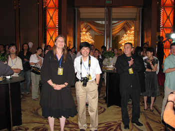 (L–R): Co-curators of the Biennale Britta Erickson and