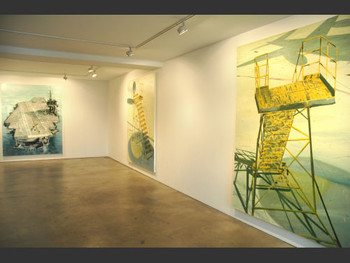 Recent works by Kim Jiwon on display at the PKM Gallery.