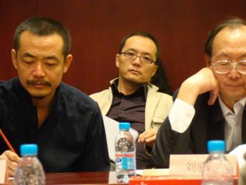 (L-R) Sui Jianguo, Qu Guangci and Liu Xiaochun.