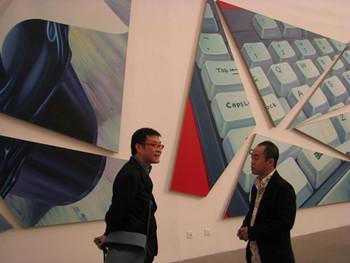 TAM: (L-R) Artists Wang Jianwei and Chen Wenbo