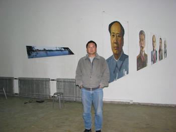 Dongying Art District: visit to Wang Peng's studio.