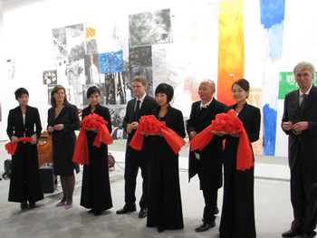 Ribbon Cutting ceremony at Faurschou Beijing