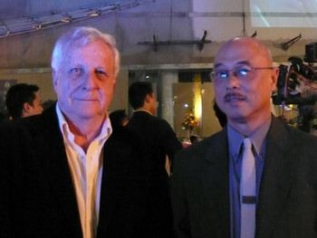 Robert G. Boughey, the architect of BACC, and Chatvichai Promadhattavedi, the sub-committee member