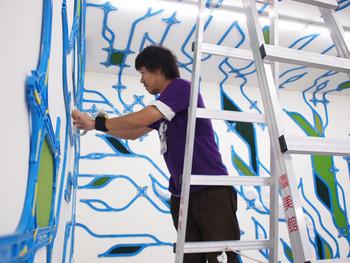 Paramodel's Hayashi Yasuhiko hard at work