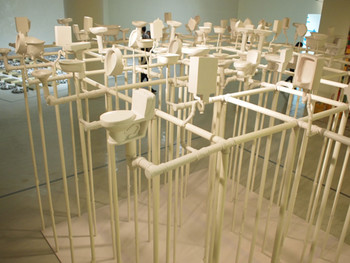 Li Cao, Jungle of Humanity, 2007, glass reinforced, plastic PVC, 400x400x270cm