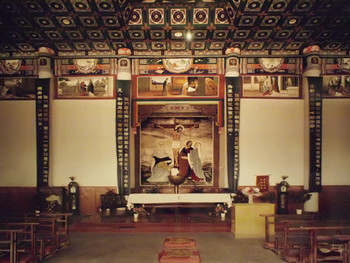 Qu Yan, Religion Space – Dong' ergou Qikushan Goddess Church, Jinyuan District, Taiyuan, Shanxi Province, photography, 198x150cm