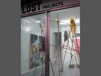View of Lost Projects' inaugural exhibition, 'March of the Pigs' by Pow Martinez, 6 October – 14 November 2010.