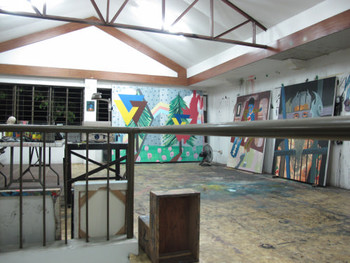 View of David Grigg's studio, March 2011.