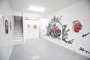 View of Ben Quilty's exhibition, 'Trashed', Lost Projects, 24 November – 24 December 2010. Photo courtesy of Lost Projects.