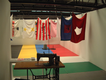 (Group) Plastique Kinetic Worms, Flags, 2002