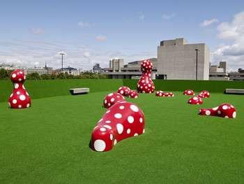 Yayoi Kusama, Ascension of Polkadots on the Trees, 2009