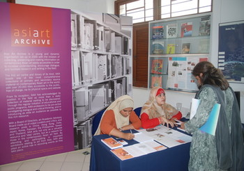 Asia Art Archive's information desk at the seminar.