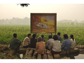 The Two Planet (Van Gogh's The Midday Sleep 1889/90 and the Thai villagers 2007), 2007, video installation / photograph, courtesy of 100 Tonson Gallery.