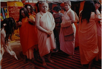 Sheba Chhachhi, Backstage At Sahi Snan Kumbh Mela, Haridwar, 1998, courtesy of Poddar Collection, Ne