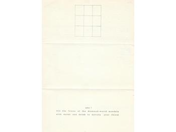 Matsuzawa Yutaka, Art & Project Bulletin 21 (page 3), 1970