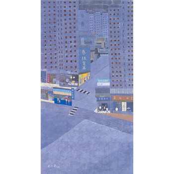 The Unchanging Yau Ma Tei, 1999, ink and colour on paper, 179 x 97 cm