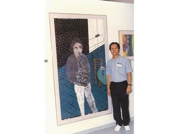 Chu Hing Wah at the Urban Council Fine Arts Award, 1989