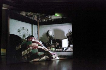 Video installation by Hiraki Sawa