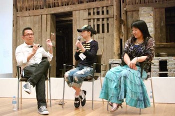 Artist talk by Chen Qiulin (centre)