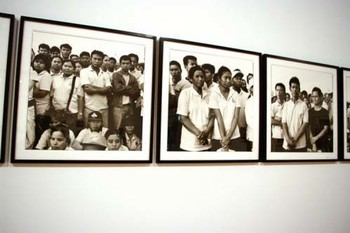 Manit Sriwanichpoom, Waiting for the King (standing) series (detail) 2006, gelatin silver prints