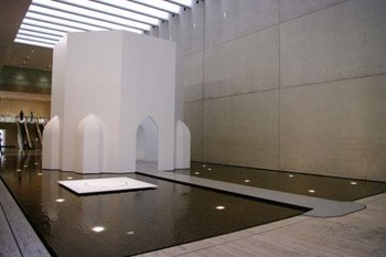 Ayaz Jokhio, A thousand doors and a windows too… , 2009, MDF, wood, aluminium, paint (site-specific work for APT6)