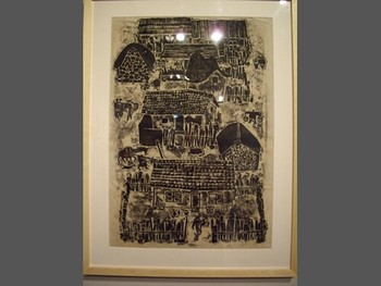 An early woodprint by Fang Lijum, 1983
