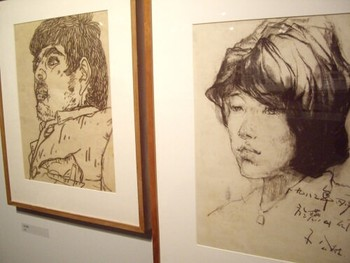 Early sketches by Fang Lijun, 1982