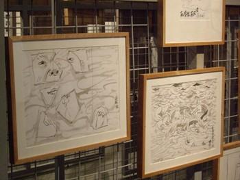 Fang Lijun's works in progress