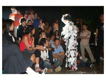 Street performance in Asiatopia, Bangkok in 2005
