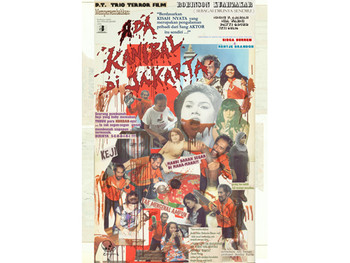 Image: <i>Ada kanibal di jakarta (The Trio Terror Project)</i>, 2011, digitally-printed poster.